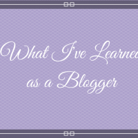 What I've learned as a Blogger